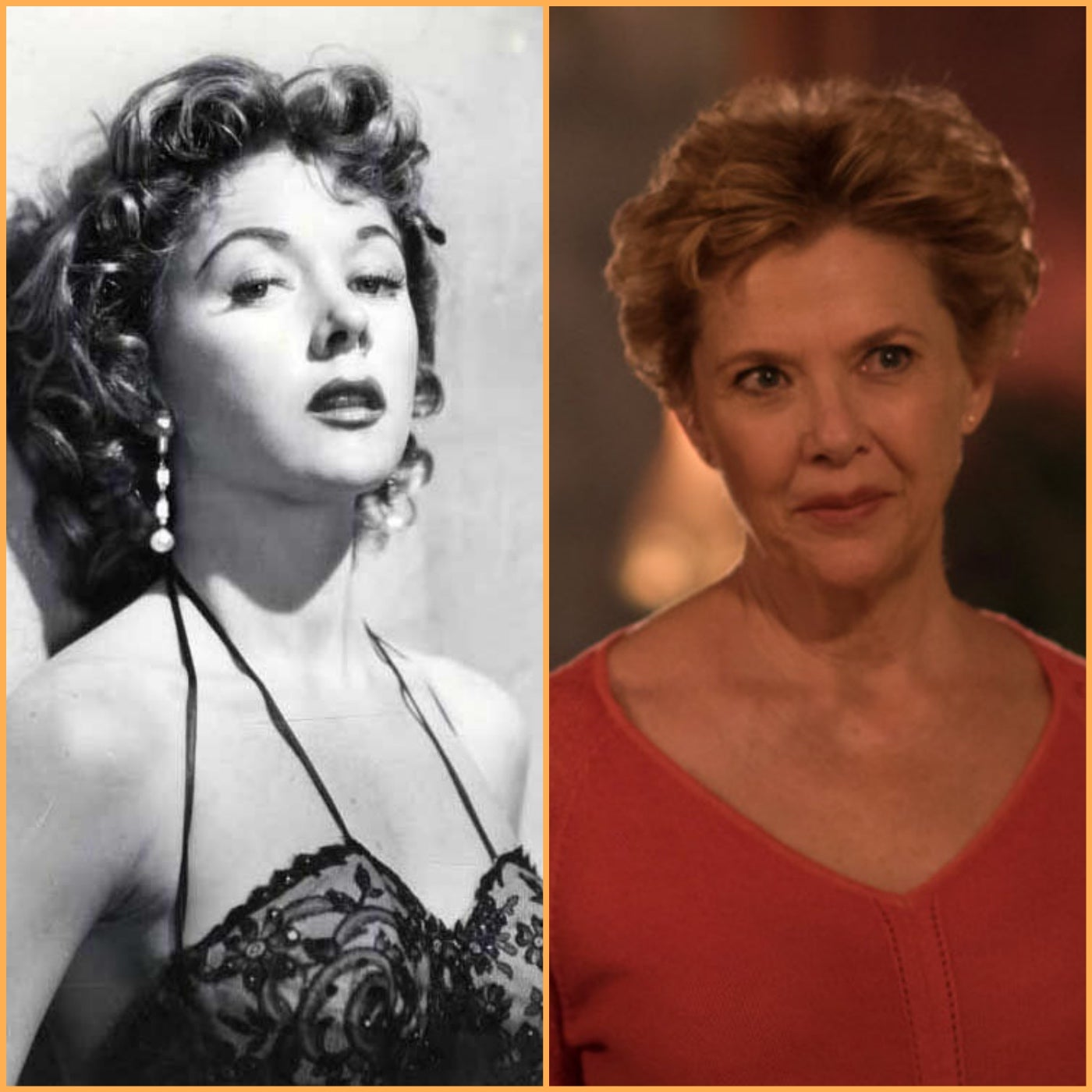 Actress Gloria Grahame and actress Annette Bening in a scene from Film Stars Don't Die in LIverpool