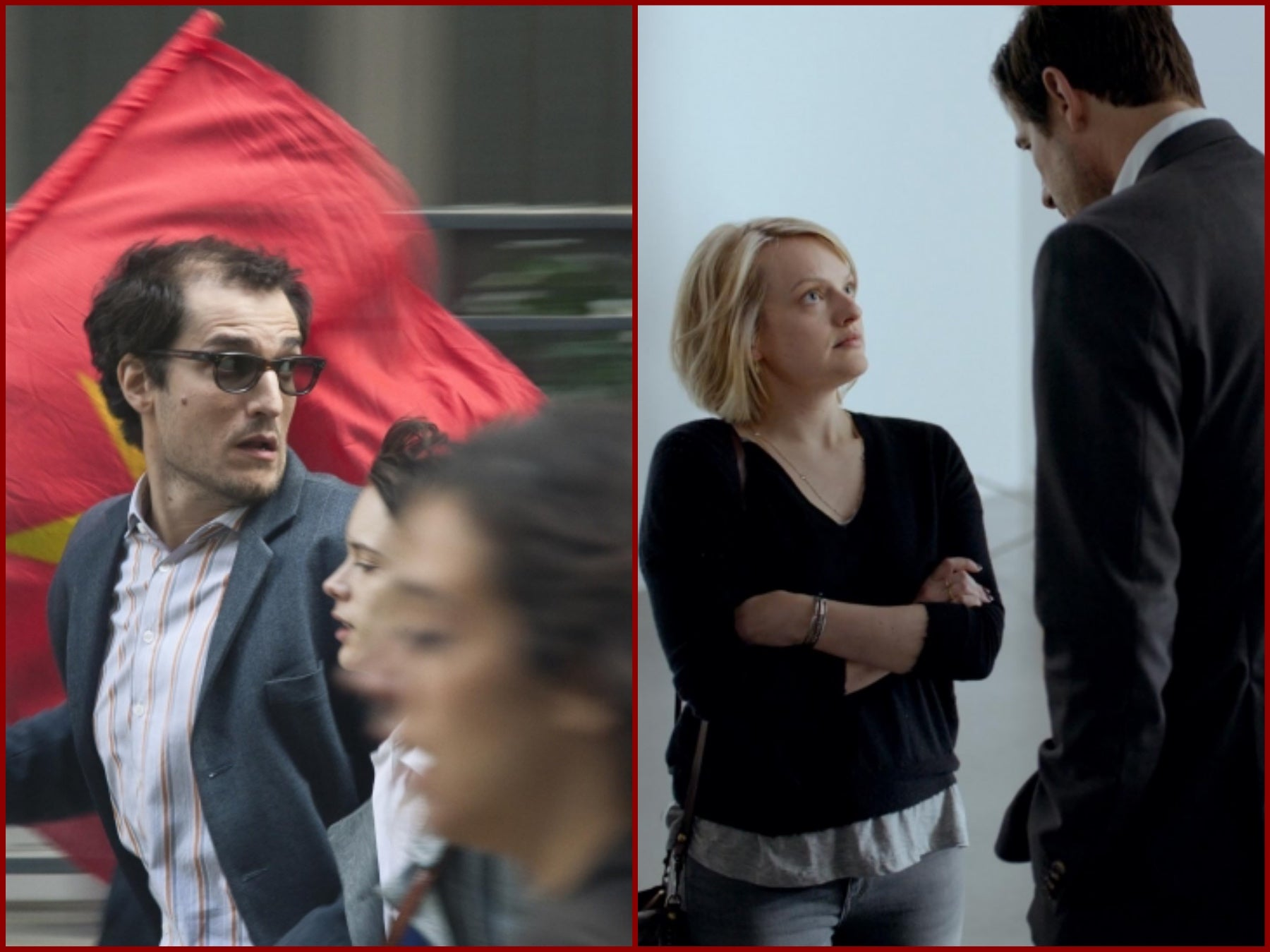 """Scenes from """"Le Redoutable"""" and """"The Square"""", in Cannes 2017"""
