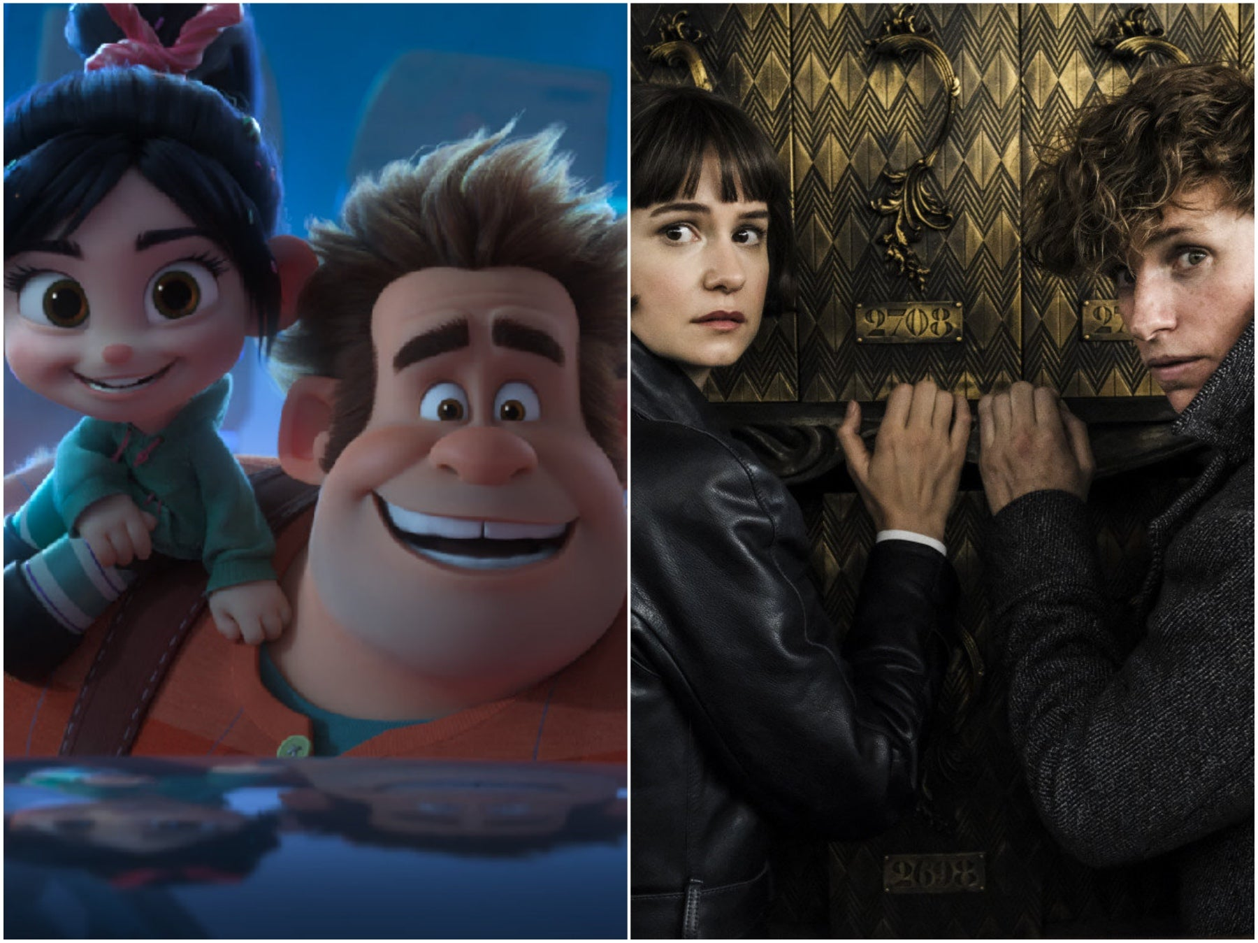 """Scenes from """"Fantastic Beasts 2"""" and """"Ralphn Breaks the Internet"""", 2018"""
