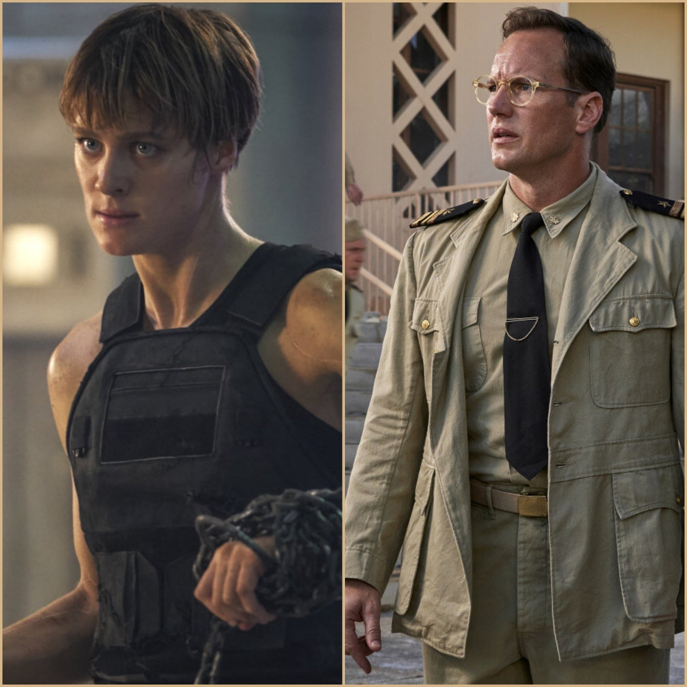 """Scenes from """"Terminator: Dark Fate"""" and """"Midway"""", 2019"""