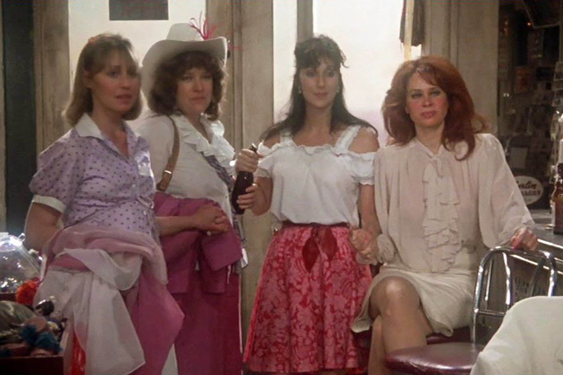 "Cher, Kathy Bates, Karen Black, and Marta Heflin in ""Come Back to the 5 & Dime Jimmy Dean, Jimmy Dean"" (1982)"