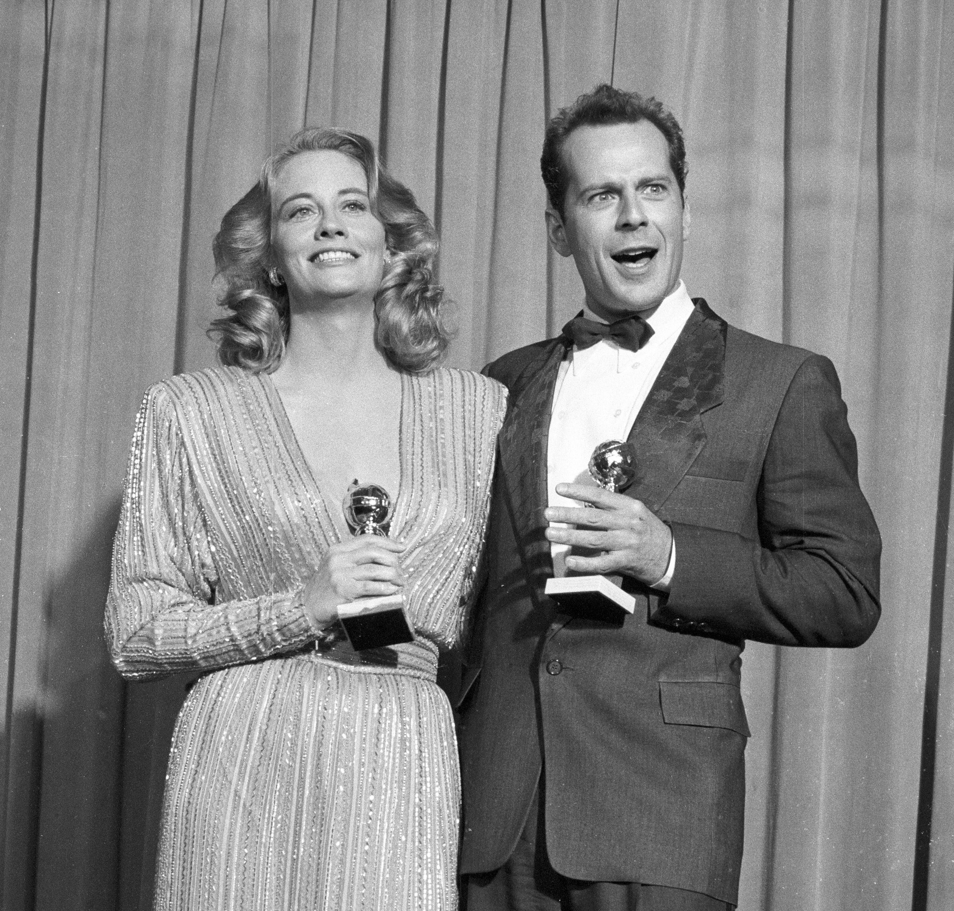 Cybil Shepherd andd Bruce Willis, 1987