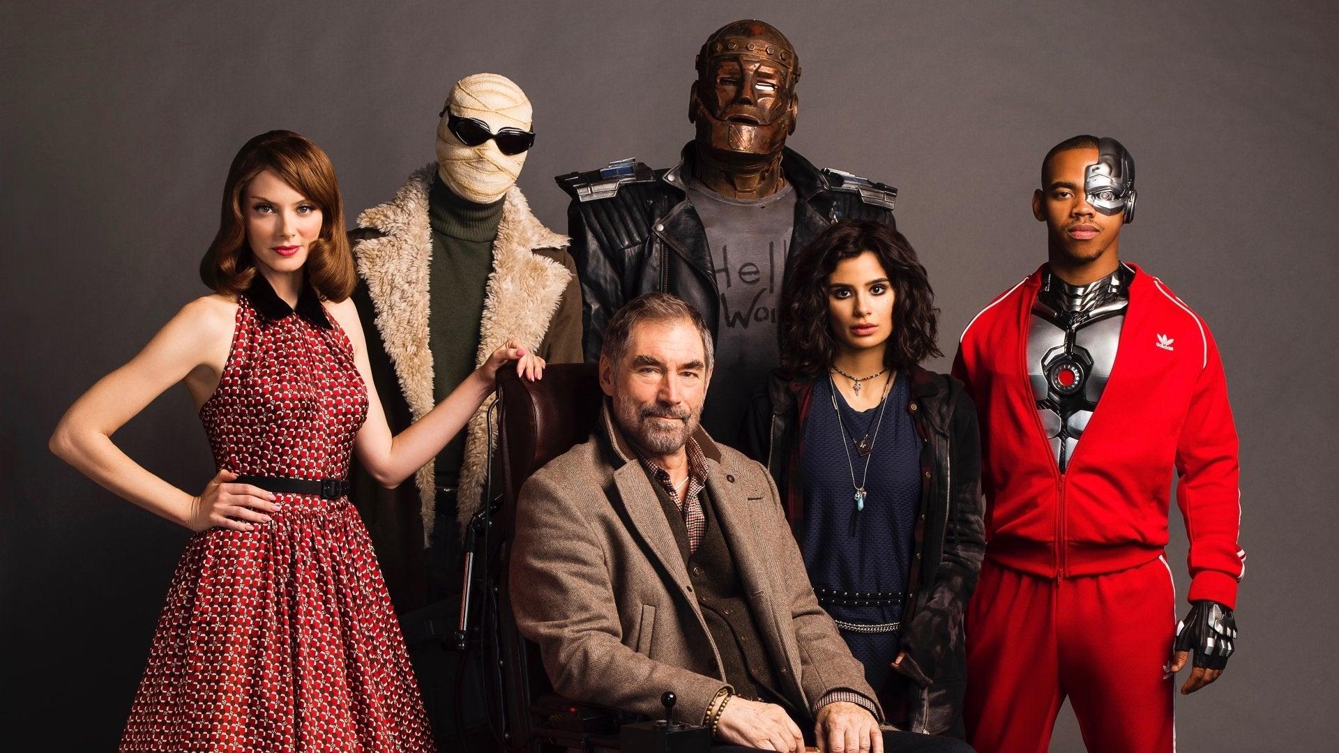 The cast of Doom Patrol, HBO series, 2020