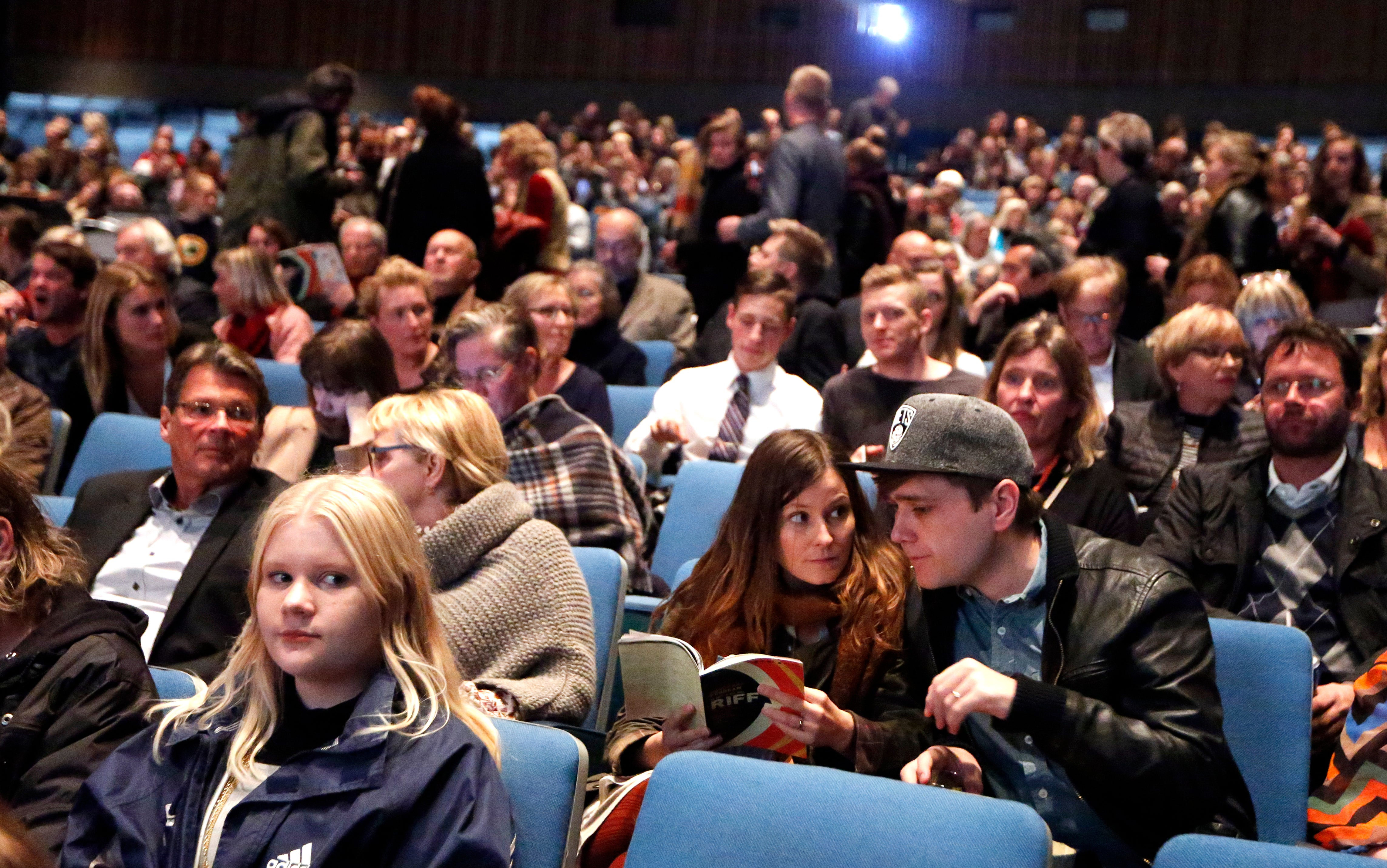 The audience at the Reykjavik International Film Festival  2016