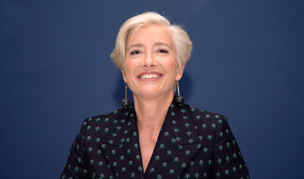 Actress and writer Emma Thompson, Golden Globe winner
