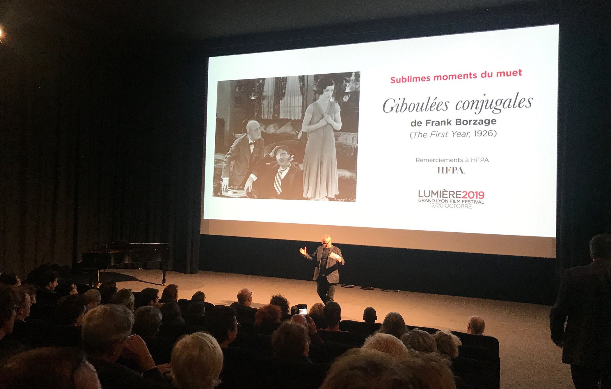 "Festival Director Thierry Frémaux introduces HFPA restored at ""The First Year"" screening in Lyon"