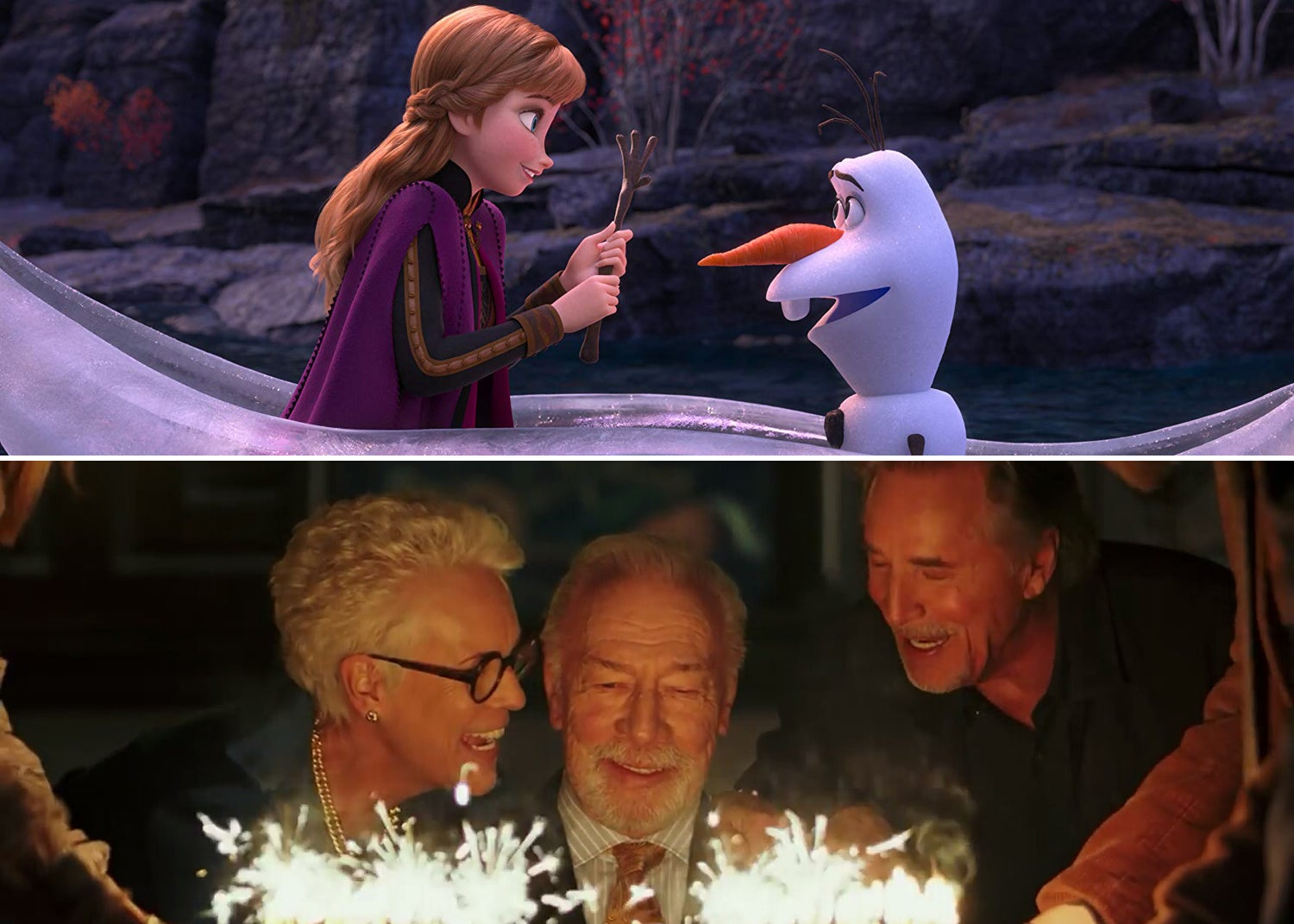 "Kristen Bell and Josh Gad in ""Frozen 2"" (2019) 