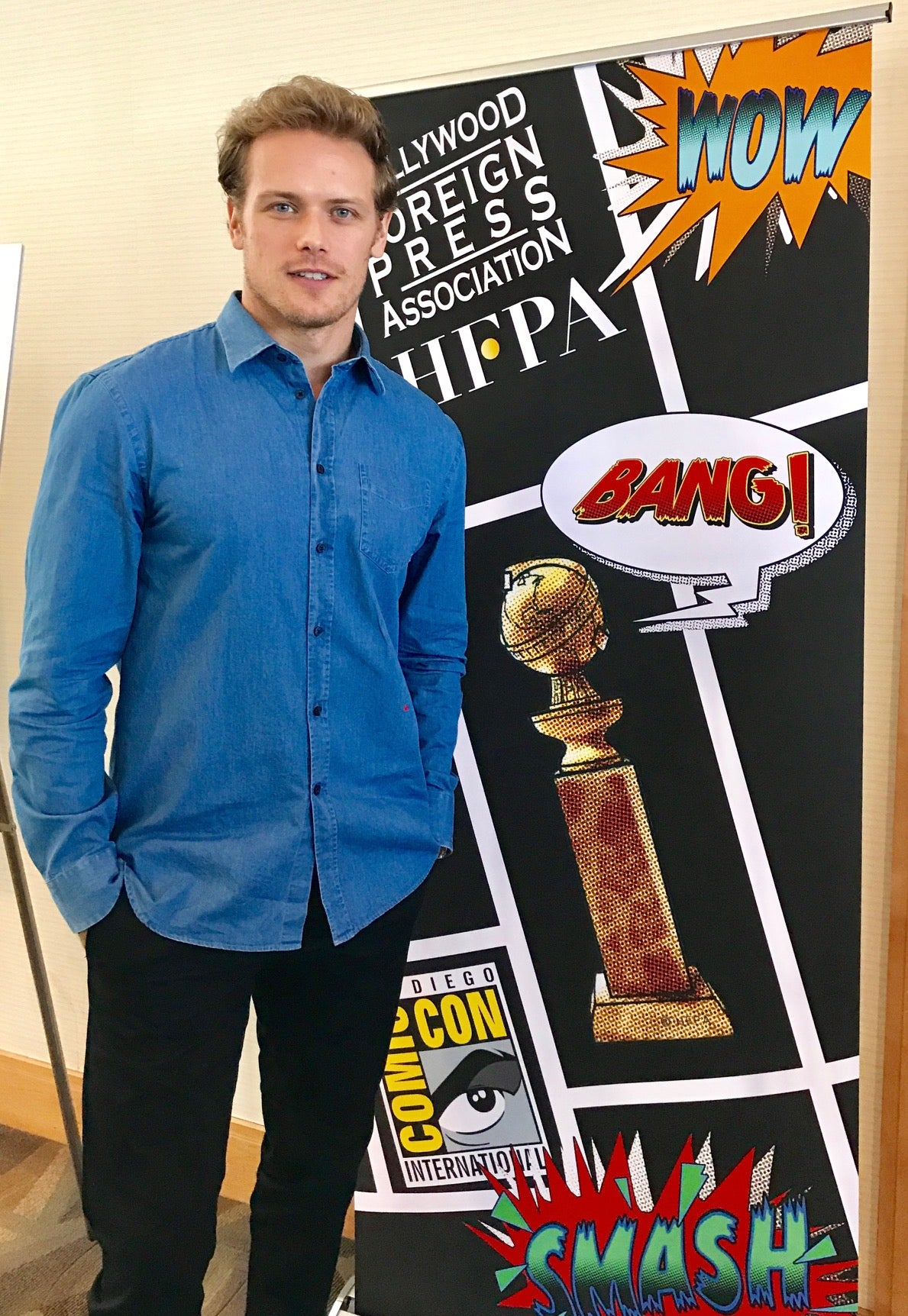 Actor Sam Heughan at Comic-Con 2017