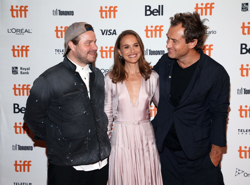 Brady Corbet, Natalie Portman and Jude Law attend the 'Vox Lux' premiere during 2018 Toronto International Film Festival
