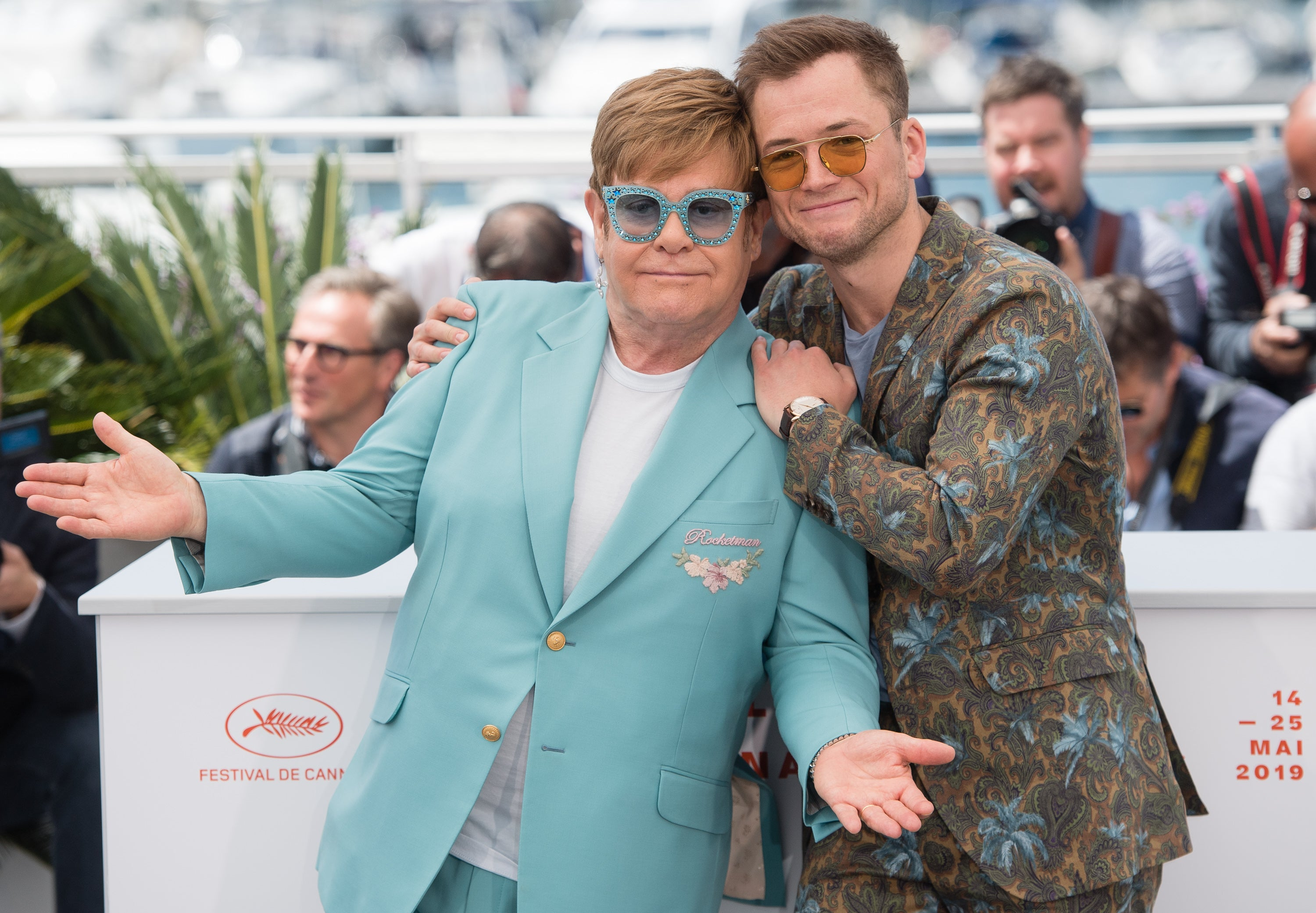 Rockstar Elton John and actor Taron Egerton