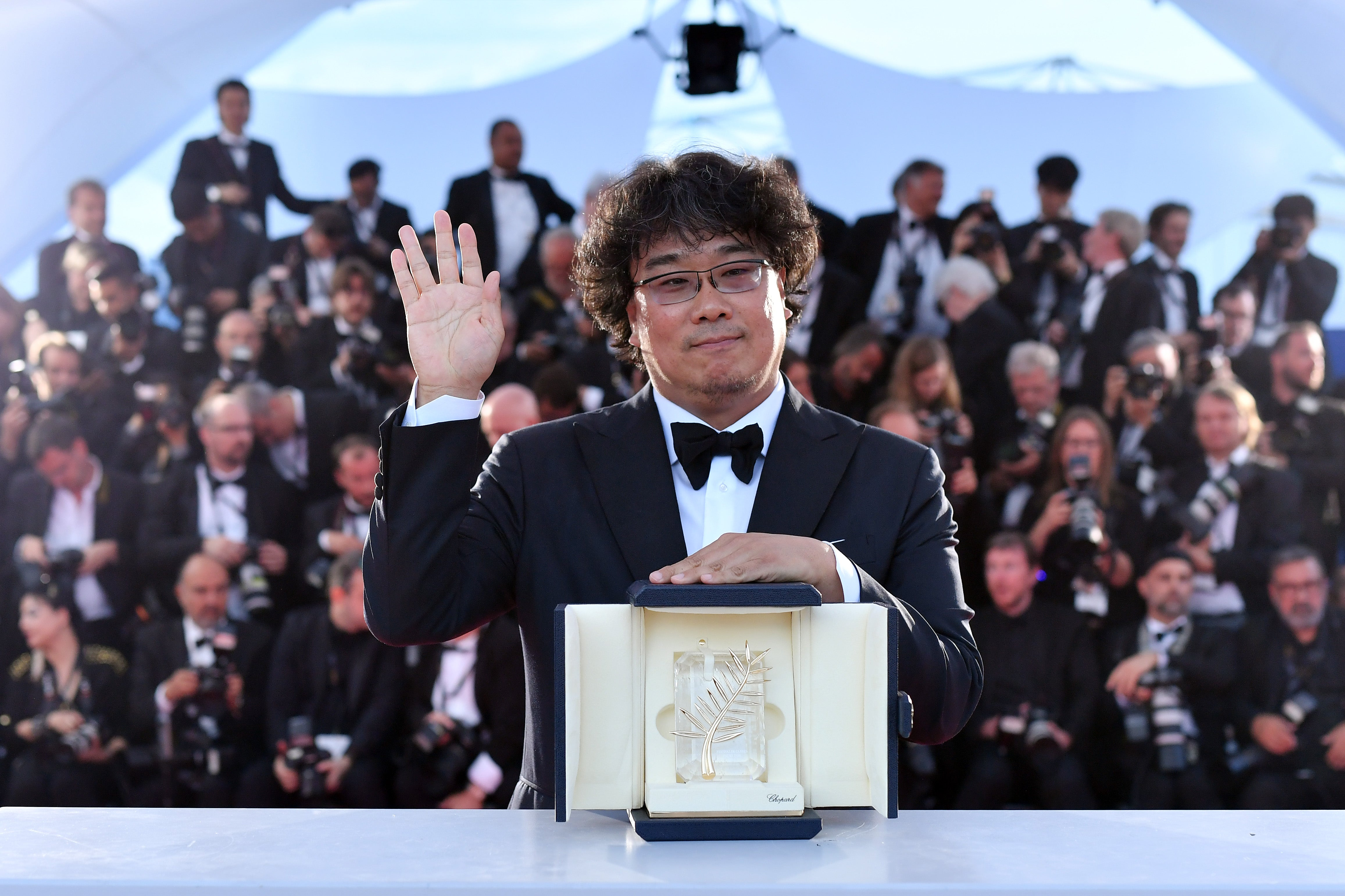 Director Joon-ho Bong, winner of the 72nd Cannes