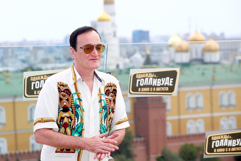 Filmmaker Quentin Tarantinoa Moscow, 2019