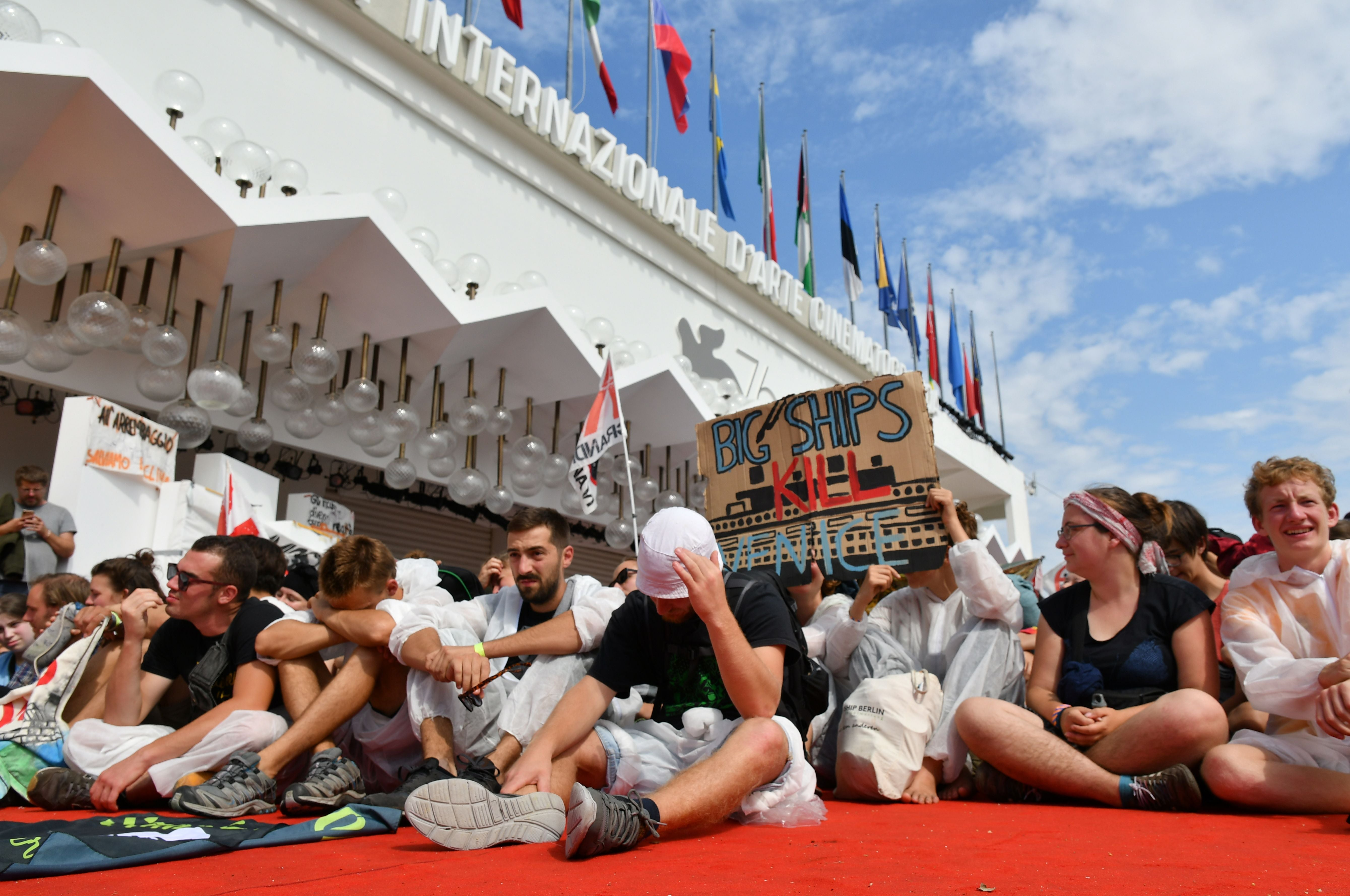 Protests at the closing of the 2019 Venice Film Festival