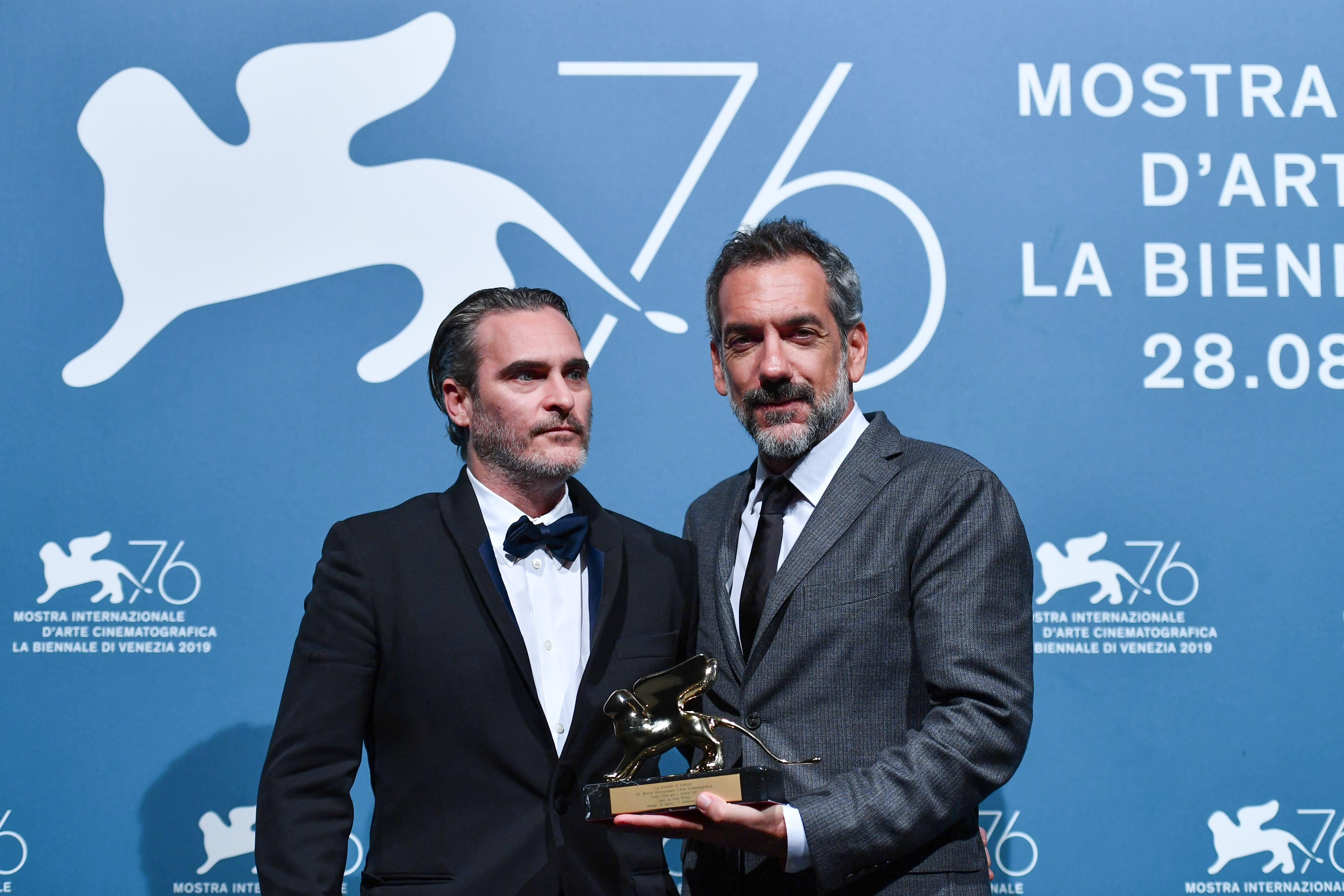 Joaquin Phoenix and Todd Phillips, Joker, 2019, winner Venice