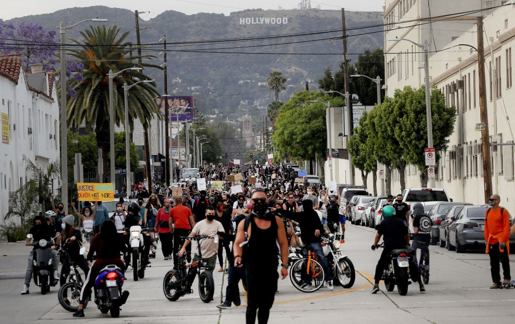 Protests in Hollywood, JUne 2020
