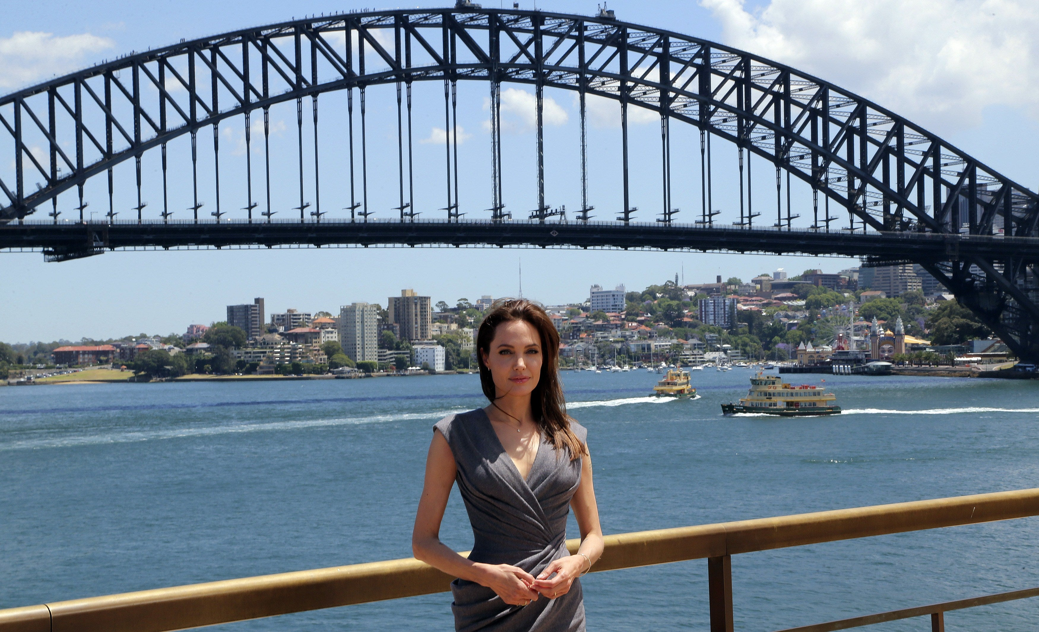 Actress and director Angelina Jolie, Golden Globe winner, in Sydney, Australia, 2014
