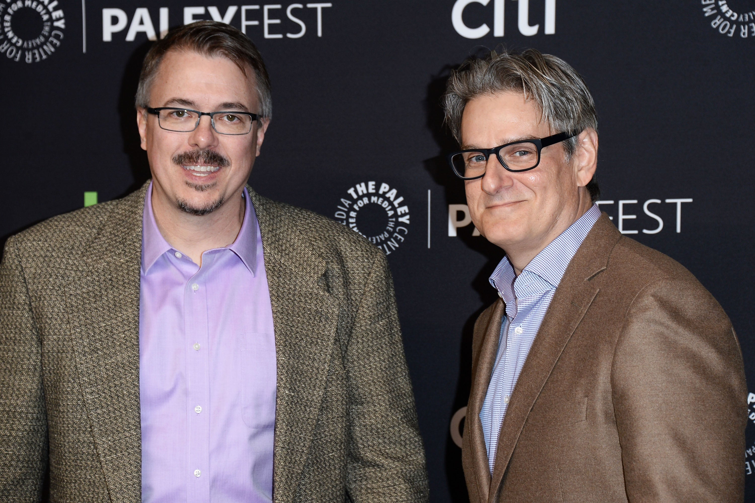 Vince Gilligan and Peter Gould, creators of the TV series Better Call Saul