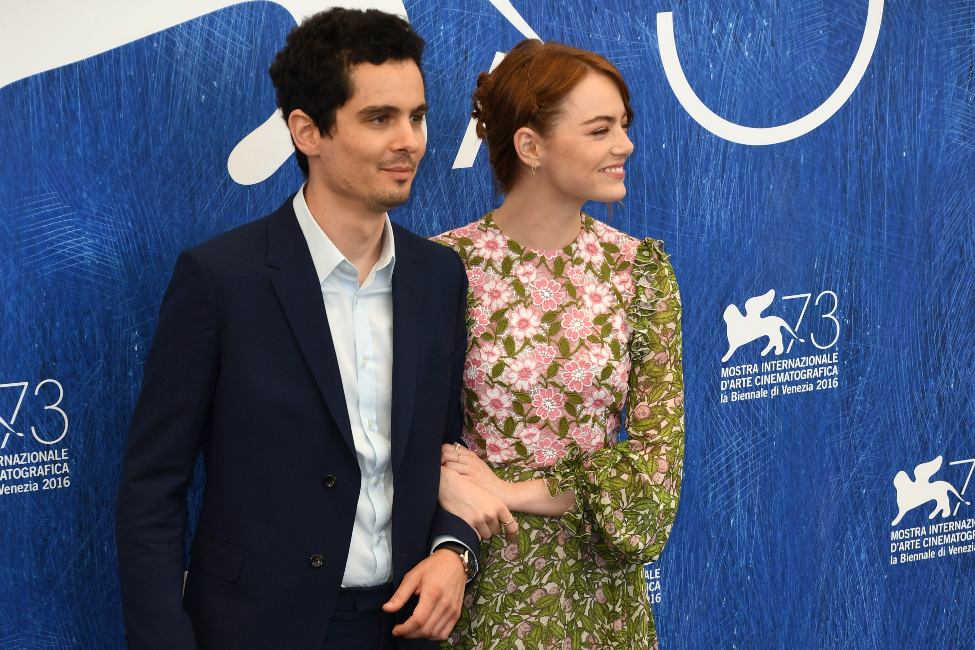 La La Land Director Damien Chazelle and Actress Emma Stone at Venice 2016
