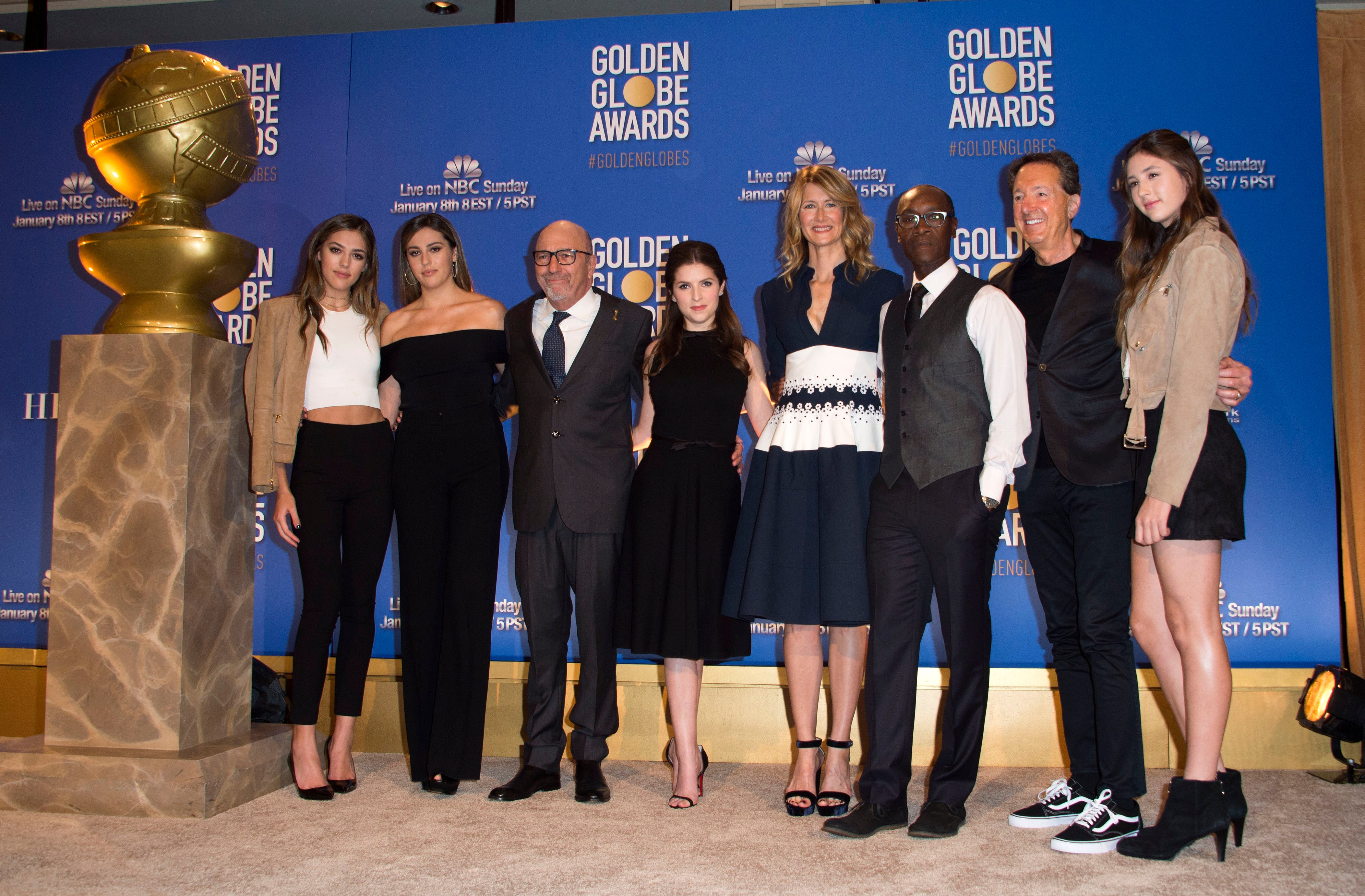 Don Cheadle presents at the Golden Globes Nominations Announcement, December 2016