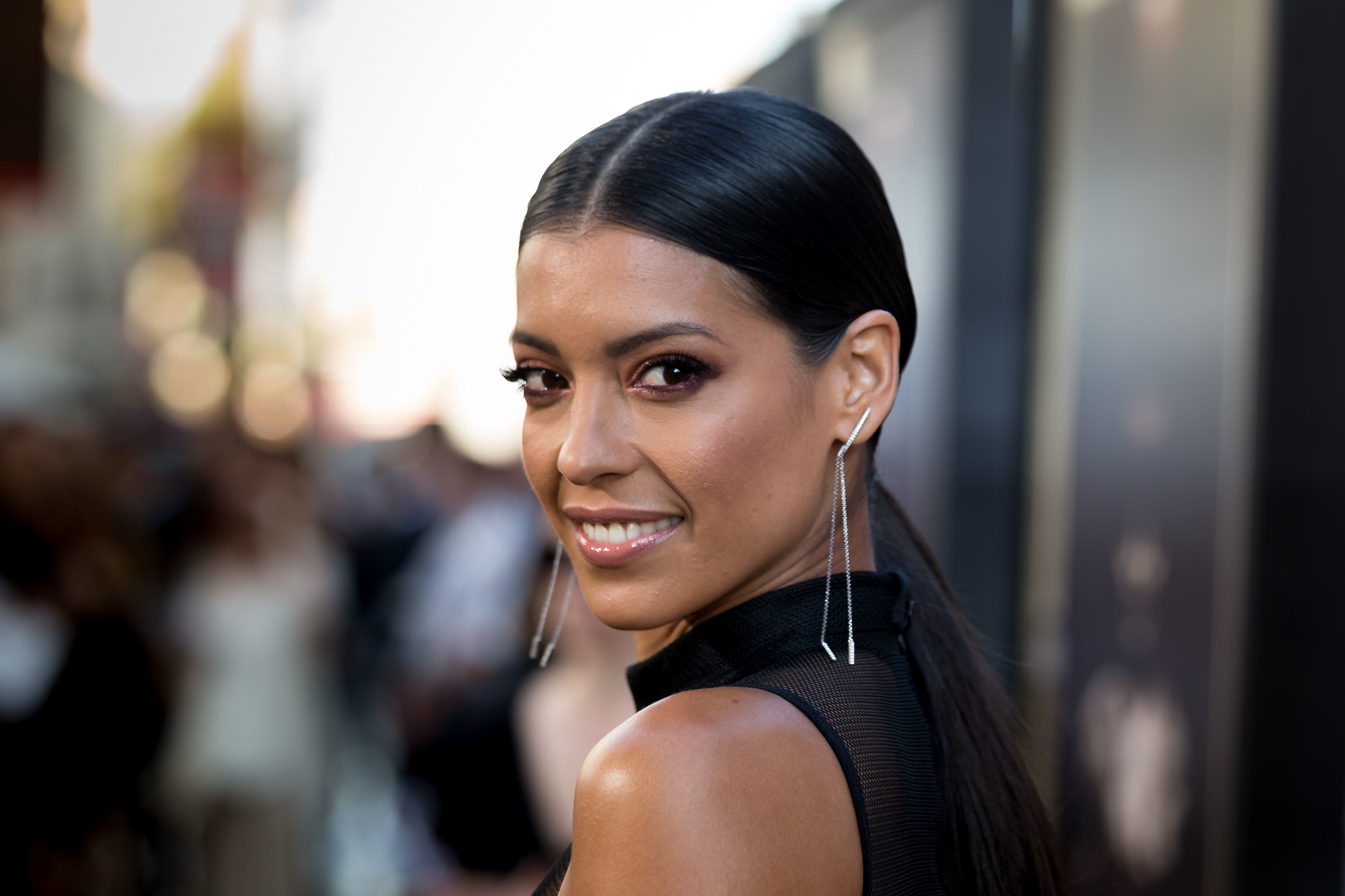 Actress Stephanie Sigman at the premiere of Annabelle:Creation