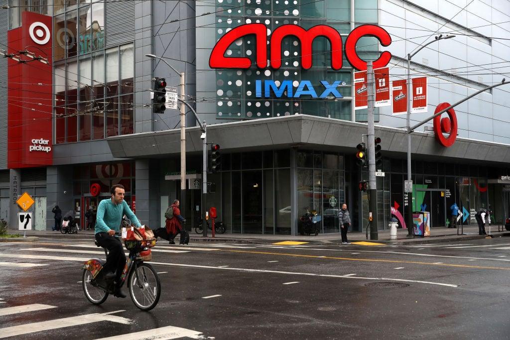 An AMC movie theater in San Francisco, 2020