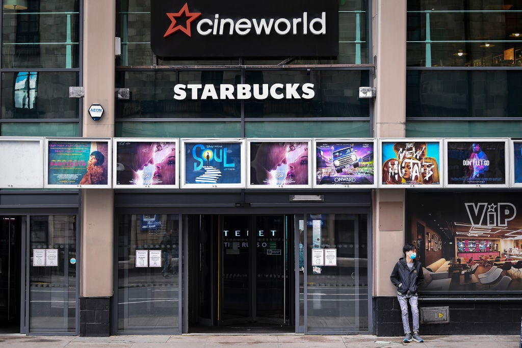 A Cineworld theater in London, 2020