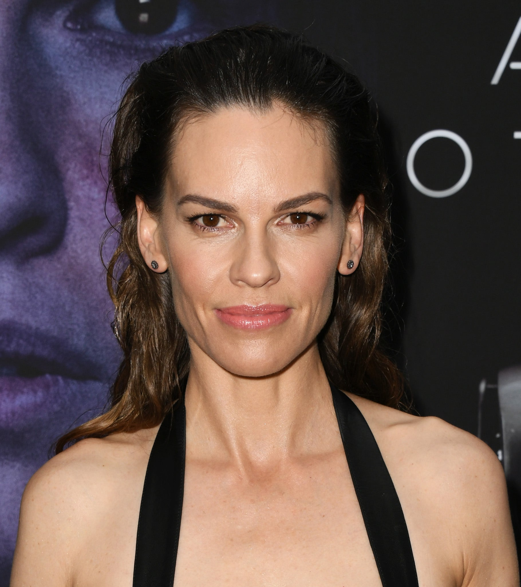 Actress and producer Hilary Swank, Golden Globe winner