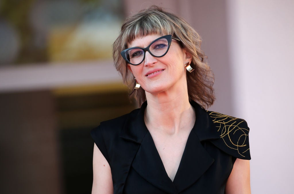 Filmmaker Jasmila Zbamoc at Venice 2020