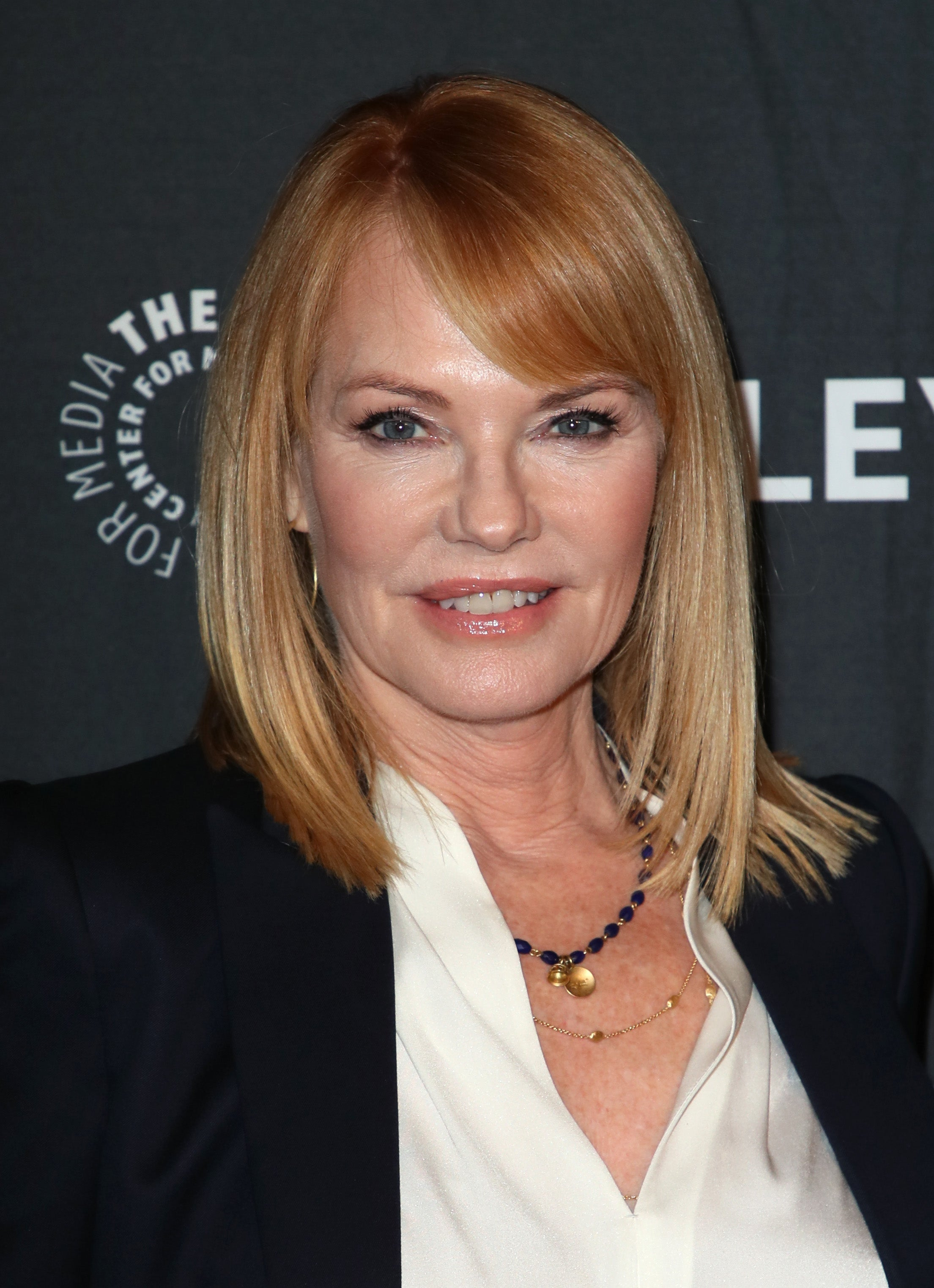Actress Marg Helgenberger, Golden Globe nominee