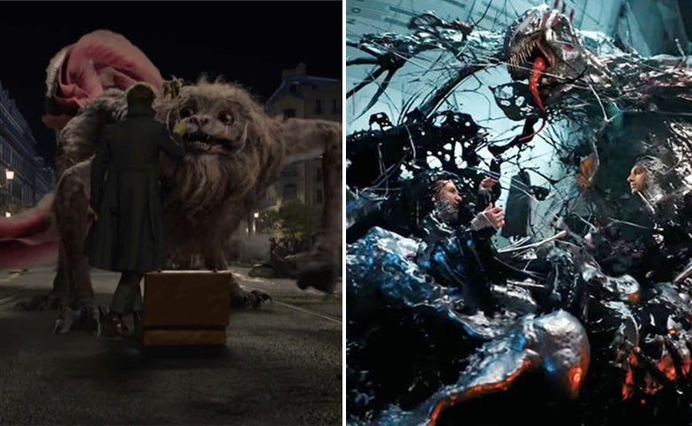 "Scenes from ""Fantastic Beasts: The Crimes of Grindelwald"" and ""Venom"""