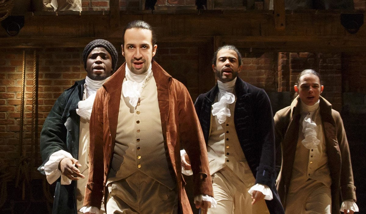 """A scene from the film of the play """"Hamilton"""", 2020"""