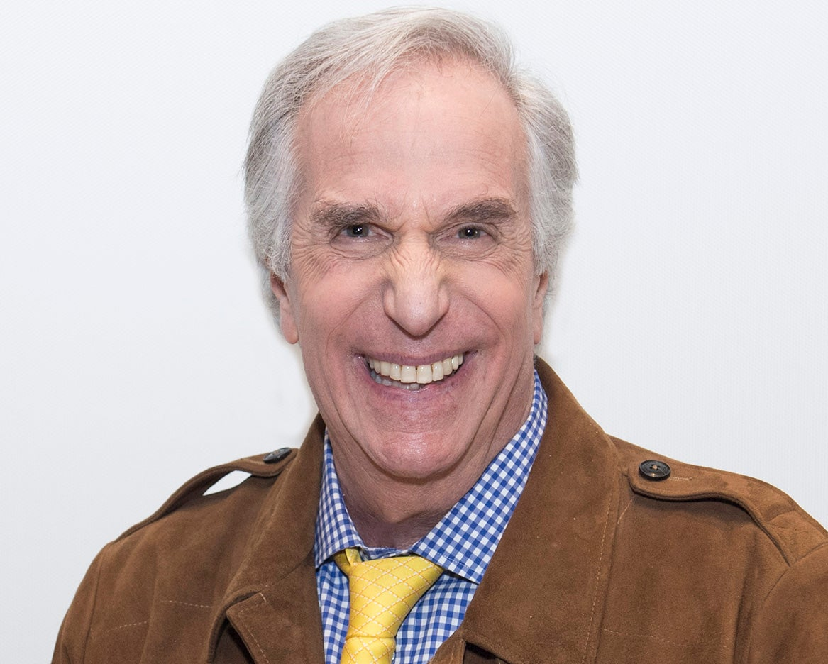 Actor Henry Winkler, Golden Globe winner