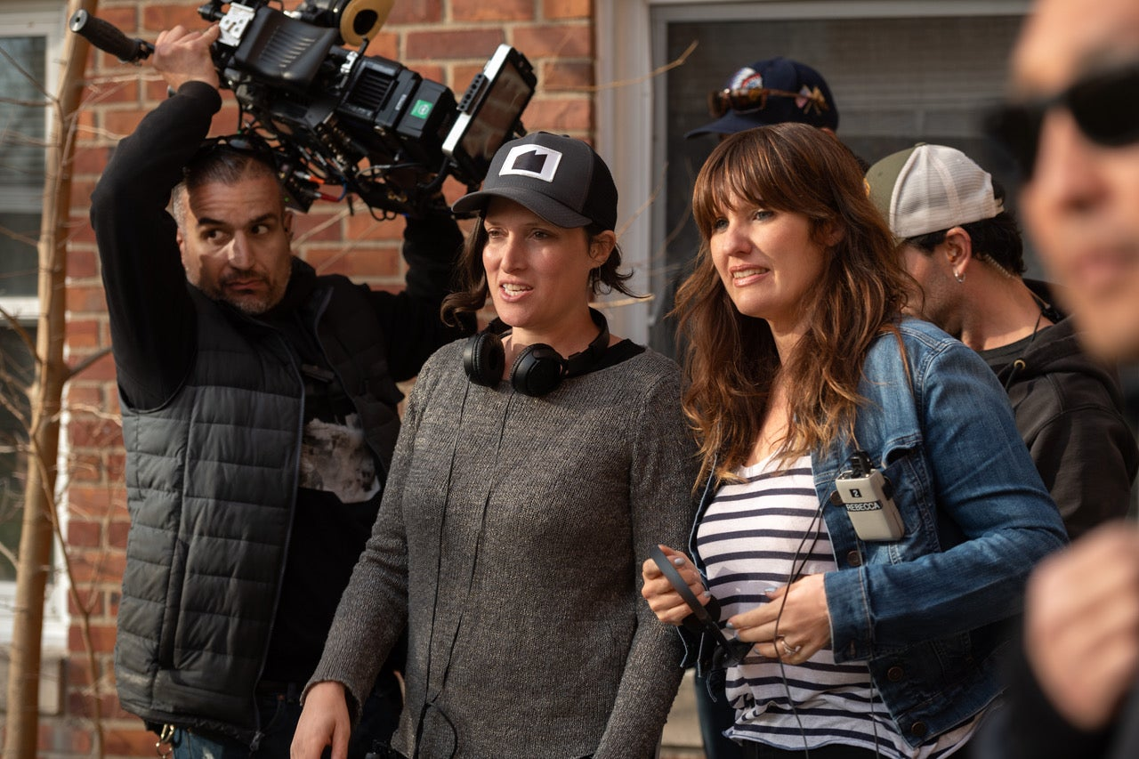"""Rebecca Cutter (3rd from left) - Creator, Director, Executive Producer and writer of """"Hightown"""" on Starz with director, Rachel Morrison (***featured in Women in Hollywood before)"""