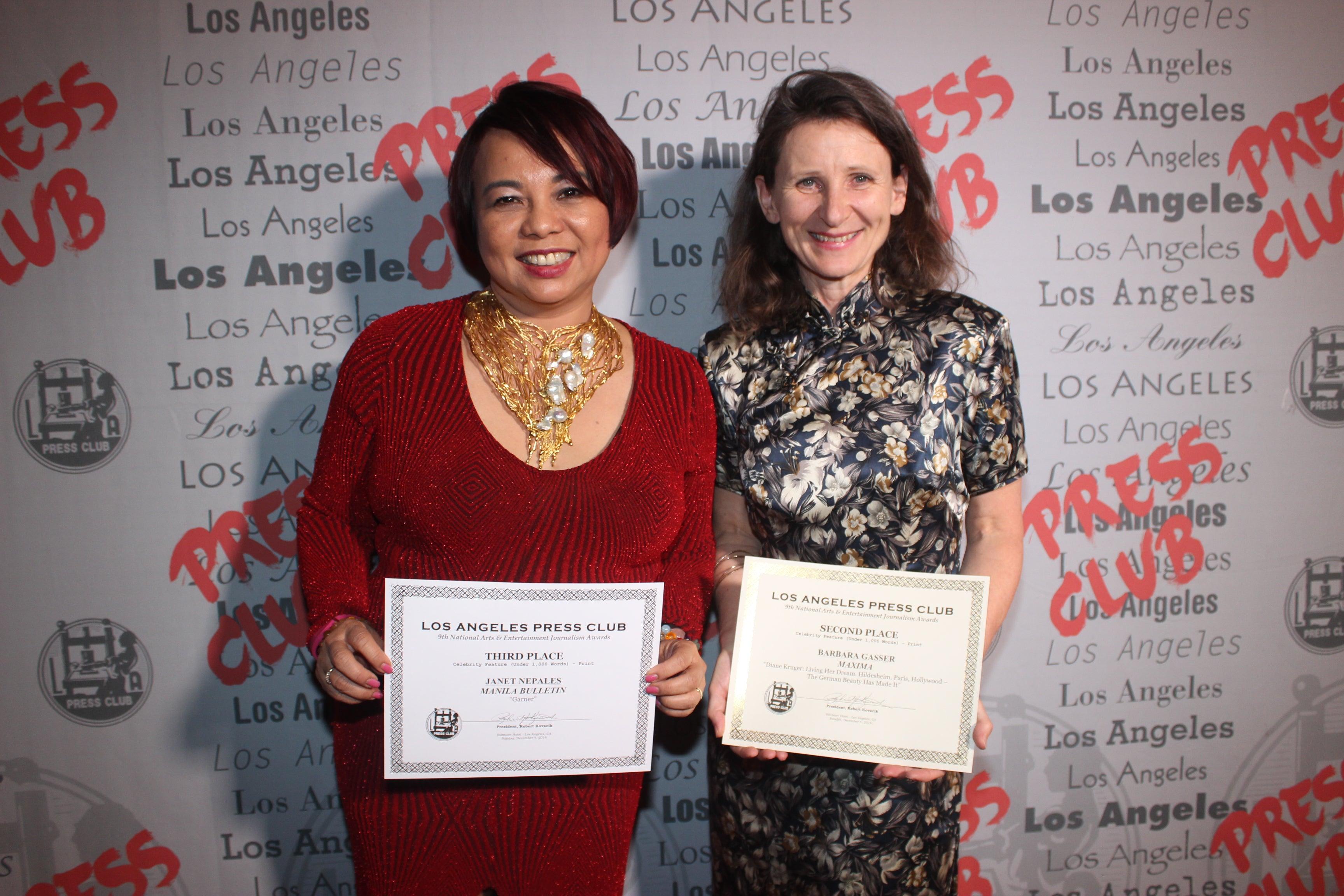 HFPA members win Journalism Awards, 2016
