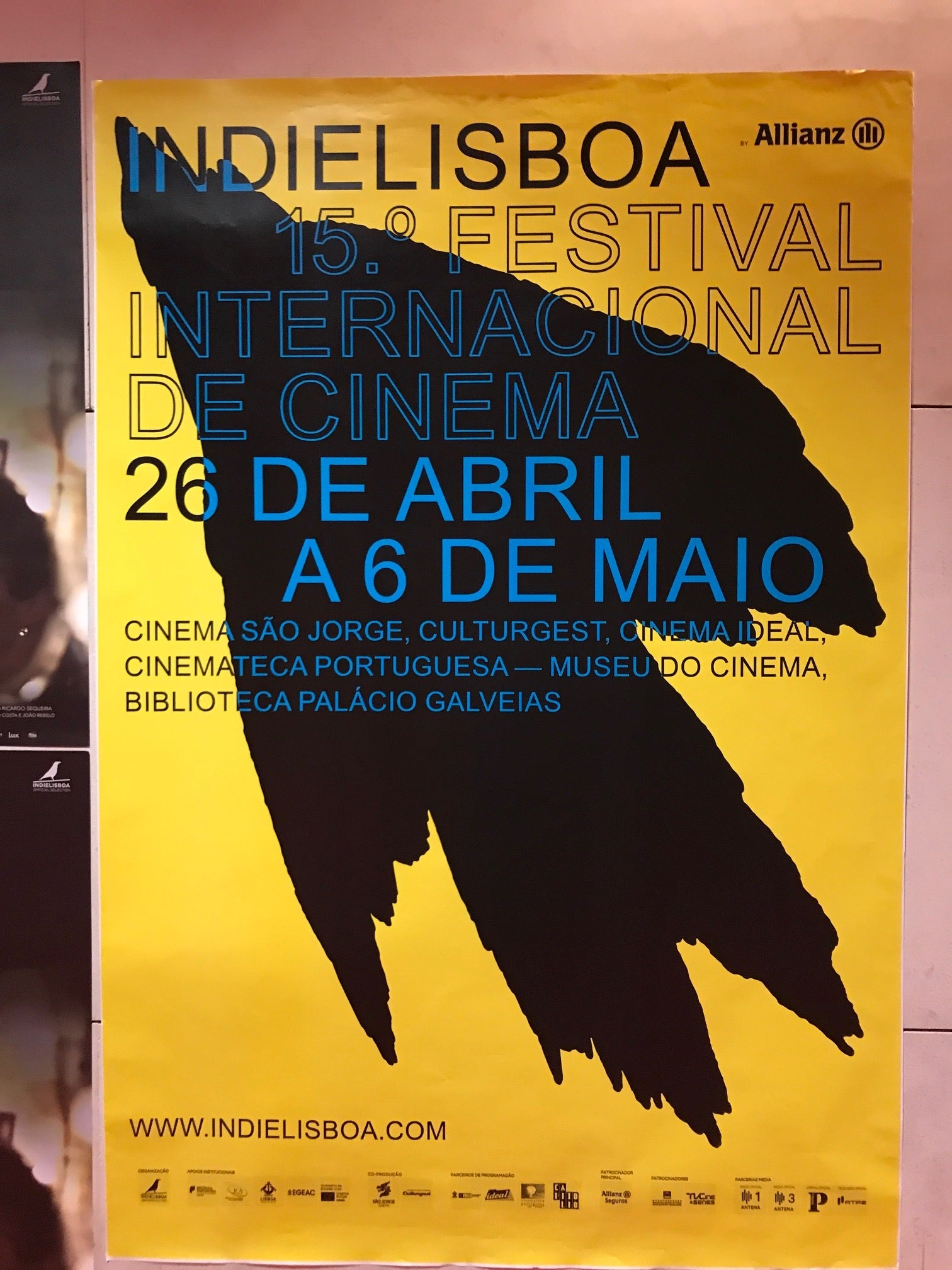 POster  for the 15th Indie Lsboa Film festival