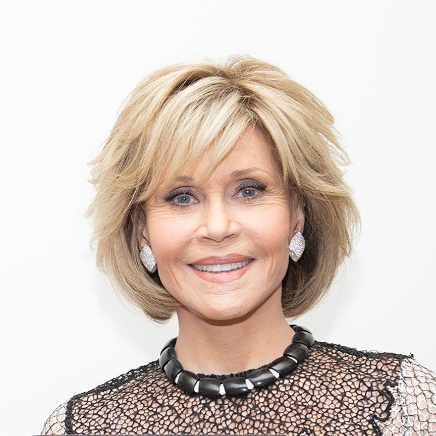 Actress and producer Jane Fonda, Golden Globe winner