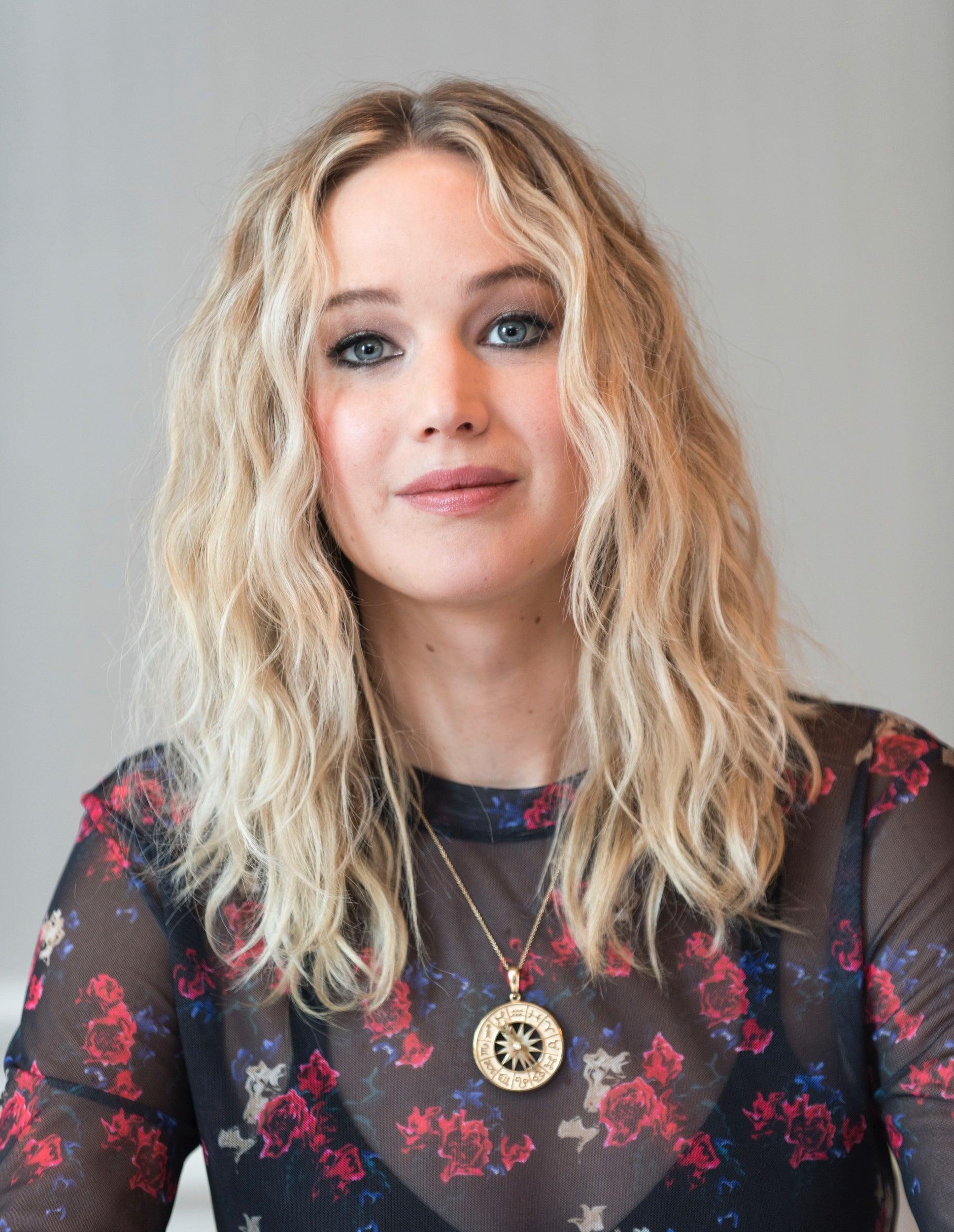 Actress Jennifer Lawrence, Golden Globe winner