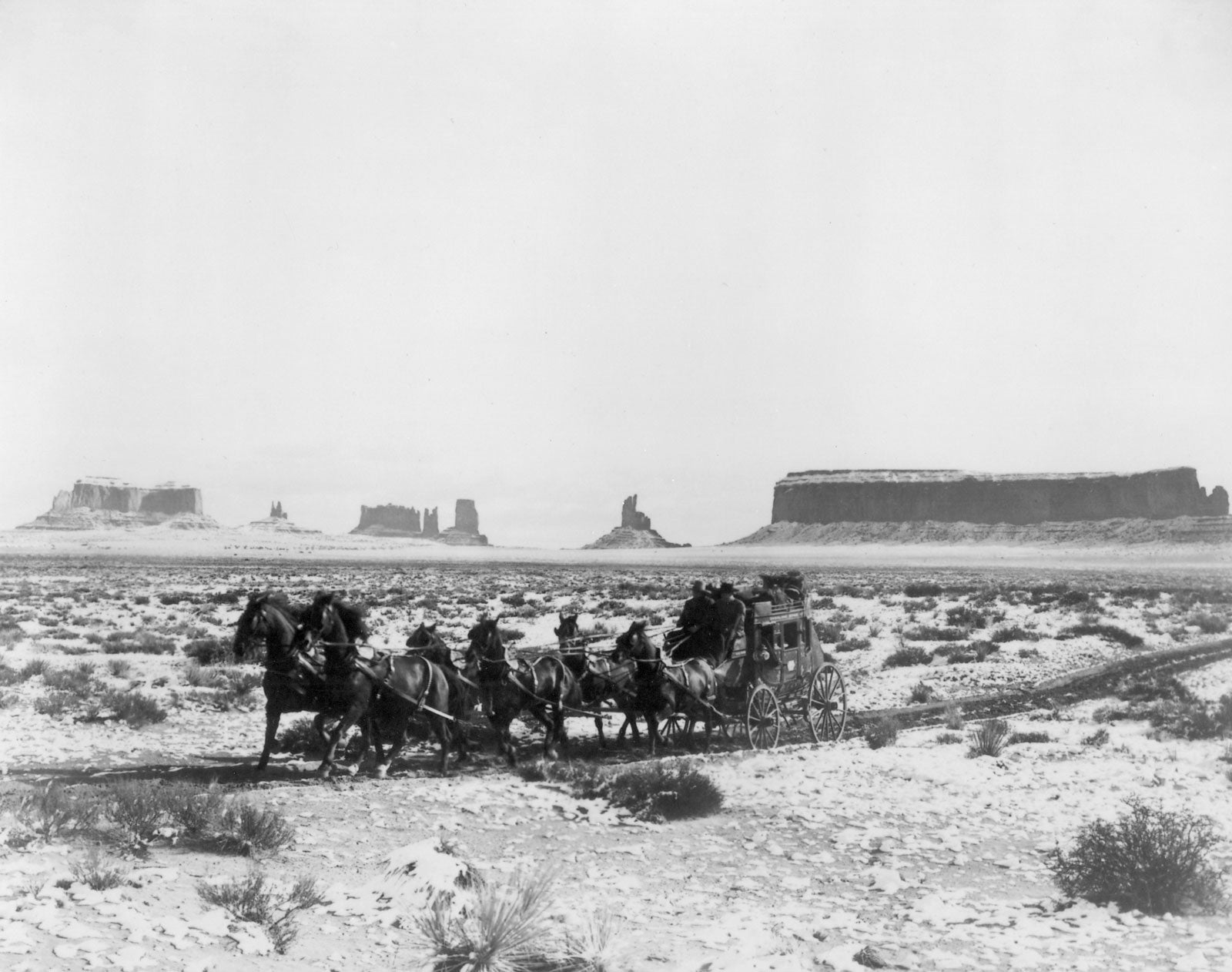 """A scene from """"Stagecoach"""", 1939"""