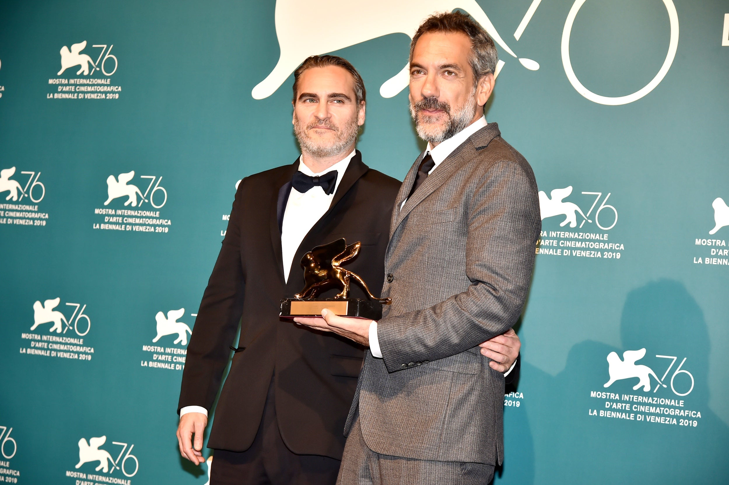 Joaquin Phoenix and Todd Phillips, Joker, 2019, winner Venice