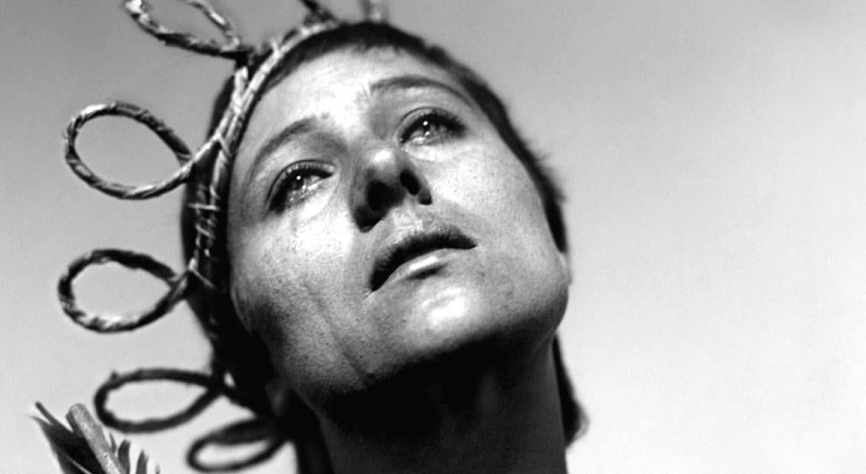 """A scene from the movie """"The Passion of Joan of Arc"""""""