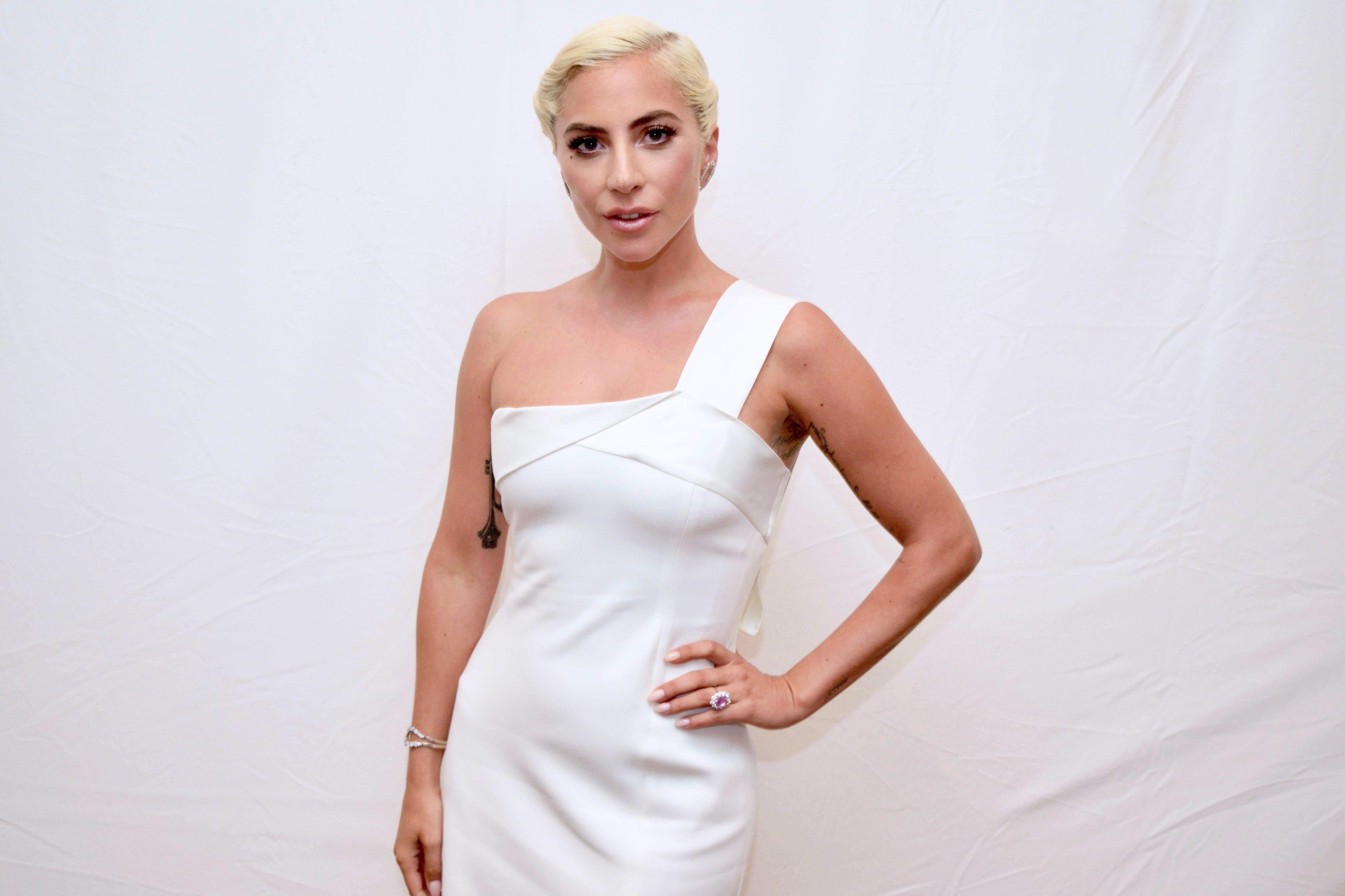 Musician, singer and acress Lady Gaga, Golden Globe winner