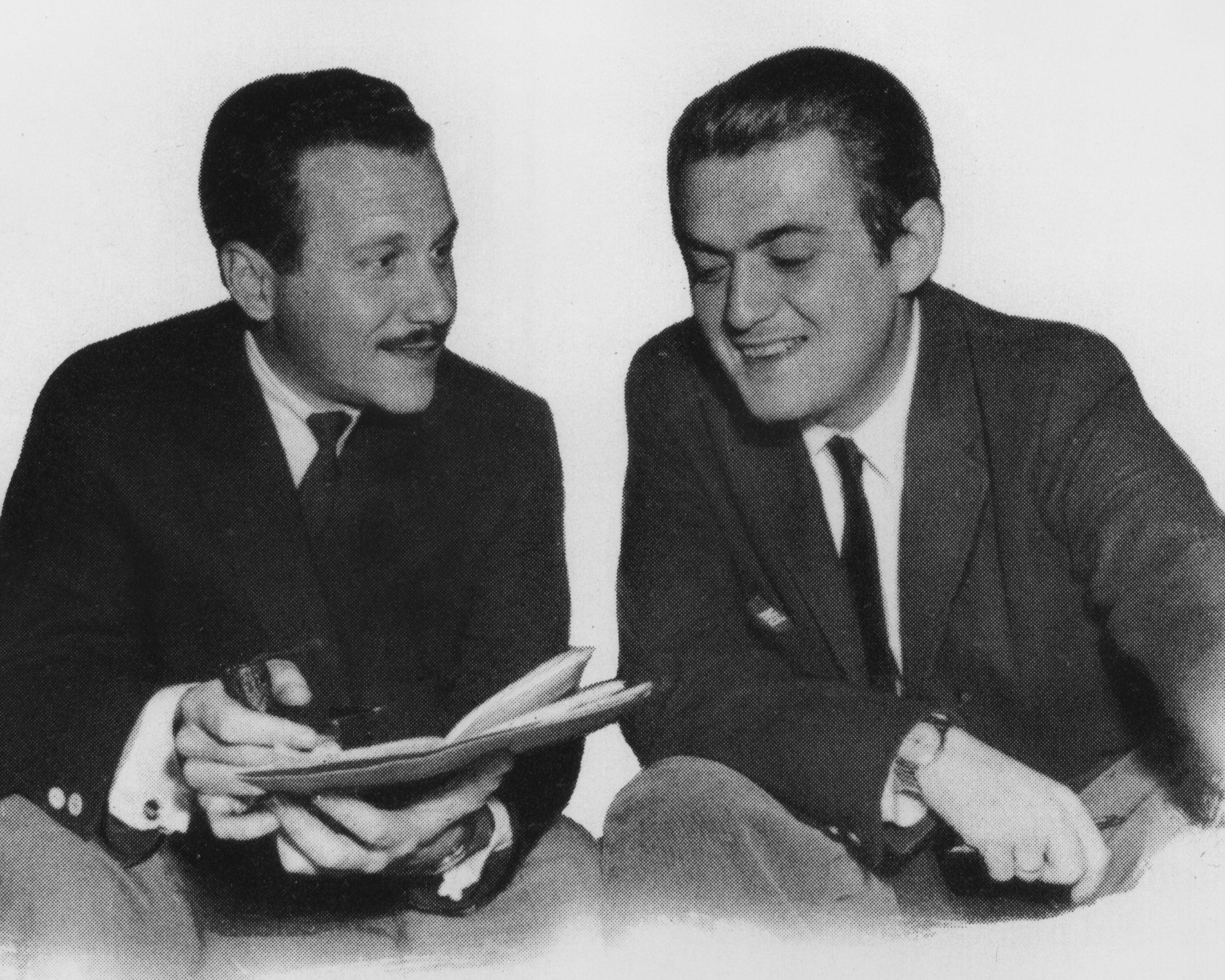 Producer Edward Lewis and Filmmaker Stanley Kubrick