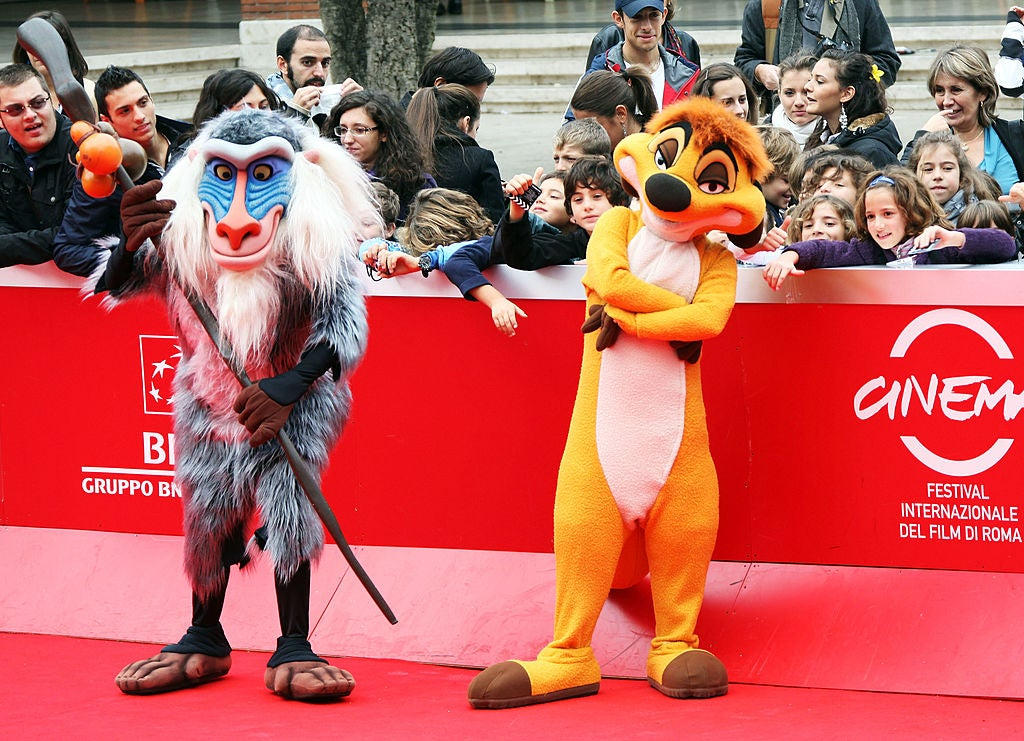 Premiere of The Lion King 3D at the Rome Film Festival