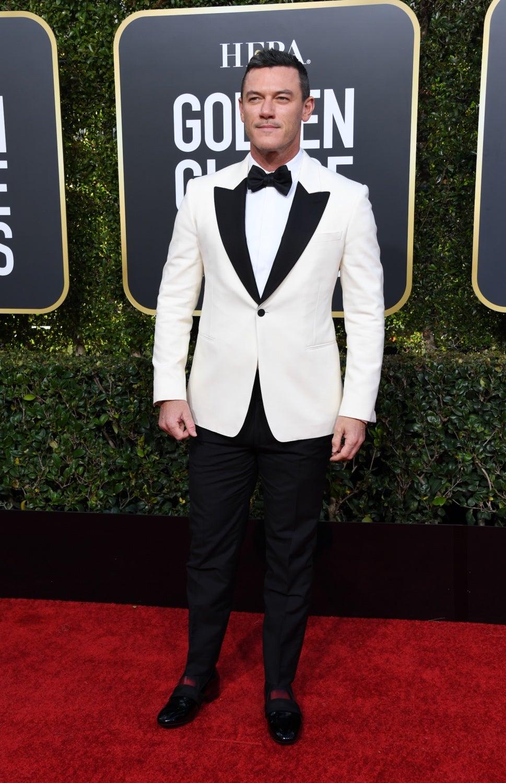 Luke Evans at the Golden Globes 2019