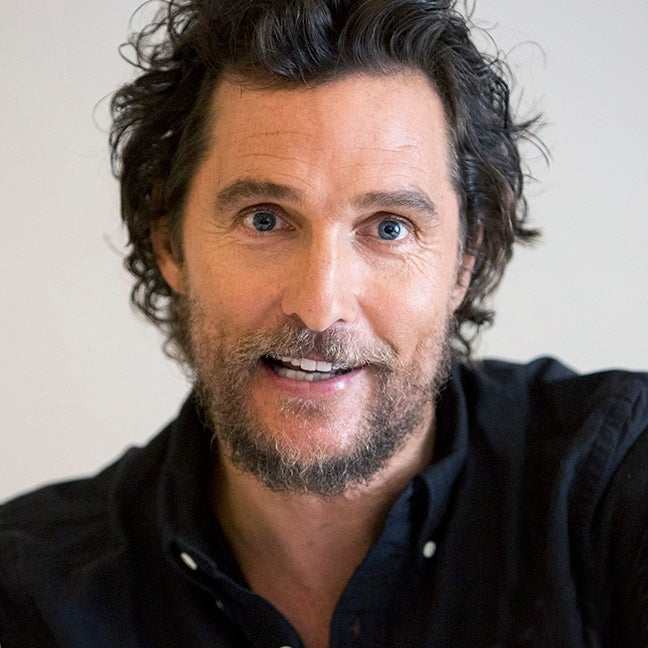 ACtor and Golden Globe winner Matthew McConaughey
