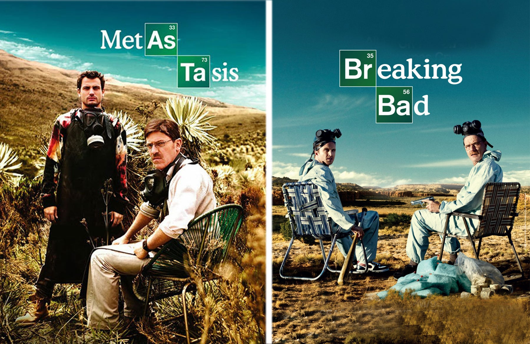 Metástasis and Breaking Bad posters