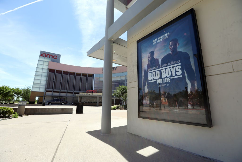 A movie theater in Garland, Texas, may 2020