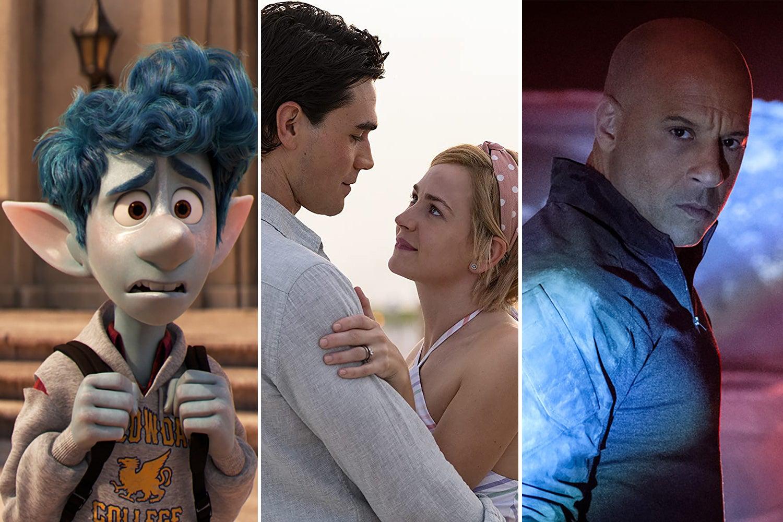 "Tom Holland in ""Onward"" | Britt Robertson and K.J. Apa in ""I Still Believe"" | Vin Diesel in ""Bloodshot"""
