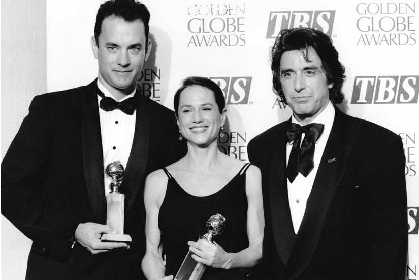 Best Actors winners, 1994: Tom Hanks. Holly Hunter and Al Pacino