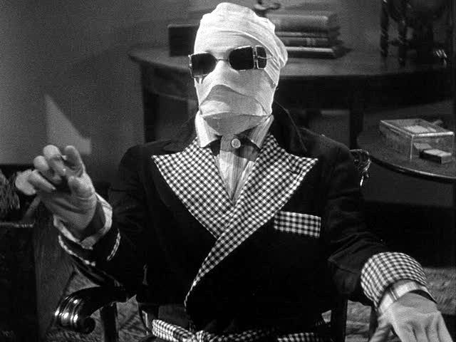 """A scene from """"The Invisble Man"""", 1933"""